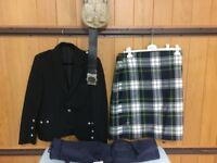 Mens Dress Gordon Kilt and Accessories for sale