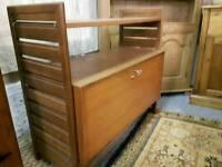 Mid century retro Teak Ladderax Record Cabinet with shelf. Ercol & Gplan era.