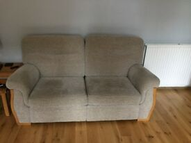 Sherborne sofa for sale like new 3 seater,2 seater and pouffy
