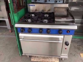 CATERING COMMERCIAL GAS COOKER OVEN AND GRILL 3 IN 1 CUISINE CAFE SHOP TAKE AWAY FASTFOOD COMMERCIAL