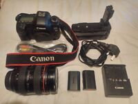 Canon 5d mk2 13,390 Shutter Count ef 28-70mm L mark 2 ii mkii batteries holder charger and box