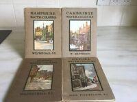 4 Books of watercolour plates.