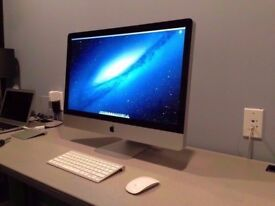 "Apple iMac 27"" QUAD CORE Core i7 2.8GHz 8GB 1TB El Capitan A1312"
