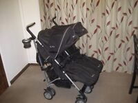 DOUBLE BUGGY SILVER CROSS PLUS COSYTOES ETC.