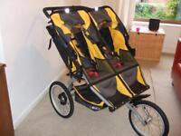Sport utility stroller duallie (double running buggy), nearly new
