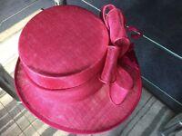 Statement Occasion hat - Fuchsia Pink - ex John Lewis