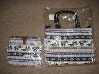pair of handbags (indian pattern)