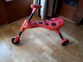 Scuttlebug trike, red and black beetle design