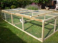 Very big rabbit/guinea pig/chick/small animal run 10ft x 4ft