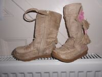 girls boots, from Barbie, suede, size 7 , zipped fastening