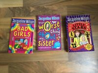 3 Jacqueline Wilson books. Bad girls, Little Stars and The worst thing about my sister.