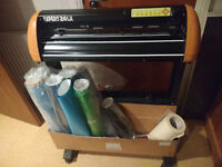 gcc expert 24lx,vinyl cutter,plotter by graphtec,used few times,new latest software wotrh 270 punds
