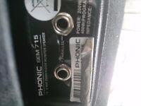 Phonic SEM 715 pair of speakers