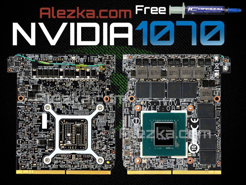 NVIDIA GeForce 1070 Notebook N17E-A2-G2 MS-W10V1