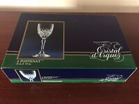 Cristal d'Arques 4 Fontenay Wine Glasses