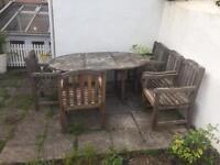 Teak garden furniture. Bristol. £1275 new.