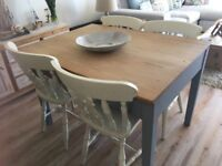 Refurbished Oak Table and 6 chairs