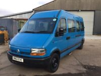 2002 RENAULT MASTER MINIBUS CAMPER CONVERSION ? 1 OWNER FROM NEW IN VGCONDITION ANY TRIAL WELCOME