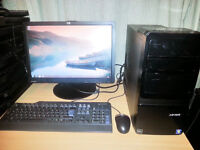 "Advent SE1101 Computer Desktop PC with 19"" Monitor Full Setup"