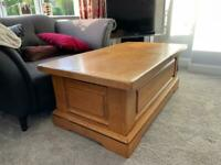 French oak storage coffee table