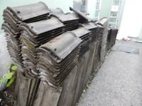 APPROX 700 PLUS USED ROOF TILES IDEAL GARAGE OR SHED ,INCLUDES RIDGES