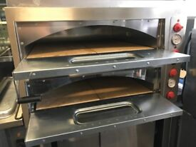 CATERING COMMERCIAL KITCHEN EQUIPMENT TWIN DECK PIZZA OVEN CAFE KEBAB CHICKEN RESTAURANT TAKE AWAY