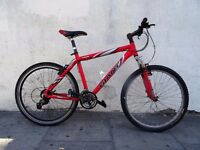 Mens Mountain/ Commuter Bike by Giant, Red, Light Weight Ali Frame, JUST SERVICED/ CHEAP PRICE!!!!!!