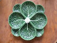 Majolica leaf platter