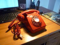 An Original Red BT 746 Series Telephone - Very Good Working Example.