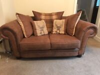 2x 2 seater sofas getting two for price of one excellent condition