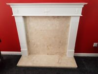 Wooden Mantelpiece with Marble