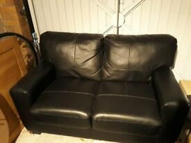 Black Leather 2 seater Sofa - £100 collection / £120 for local delivery (more depending on distance)