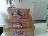 Small storage vintage shabby chic cases