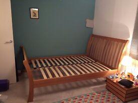 Stylish solid Oak Julian Bowen Double Bed