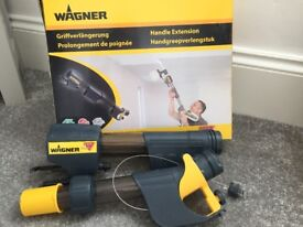 Wagner paint spray system - VGC used once - 2 paint holders-handle exten -some masking seeQVC kit -