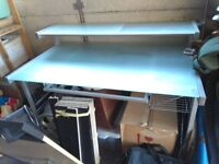 Large frosted glass Desk