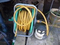 GARDEN HOSE PIPE AND REEL