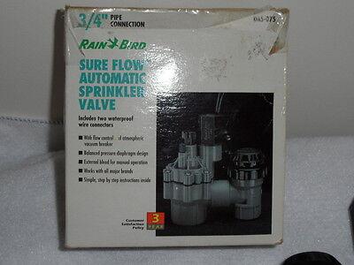 "Rain Bird Sure Flow Automatic Sprinkler Valve DAS-075 3/4"""