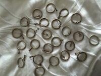 24 metal curtain rings