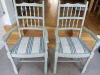 Two carver chairs
