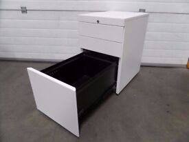 KNOLL WHITE 3 DRAWER UNDER DESK OFFICE PEDESTAL
