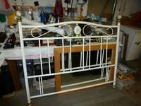 double bed size headboard metal / ornate only £10
