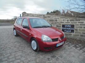 Renault Clio Campus 65 DCi Diesel In Red, 2007 57 reg, Part Service History, MOT November 2018