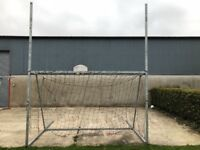 Large Football Posts with Net