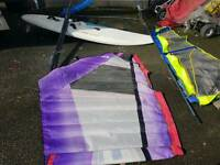 Windsurfing board and two sail's