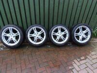 Porsche Boxster alloy wheels and winter tyres