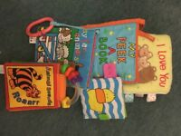 Baby soft books (bundle of 5) Jellycat, Taggies, Mothercare etc.