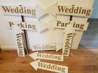 Wedding & Parking Signs x 9, perfect for wedding