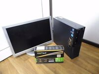 Gaming Computer PC Setup with monitor (Intel i5, 4GB RAM, 500GB HD, GT 710 Graphics) With Games