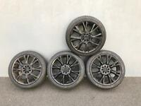 "18"" 4x100 4x108 multifit alloy wheels. Swap for field bike?"